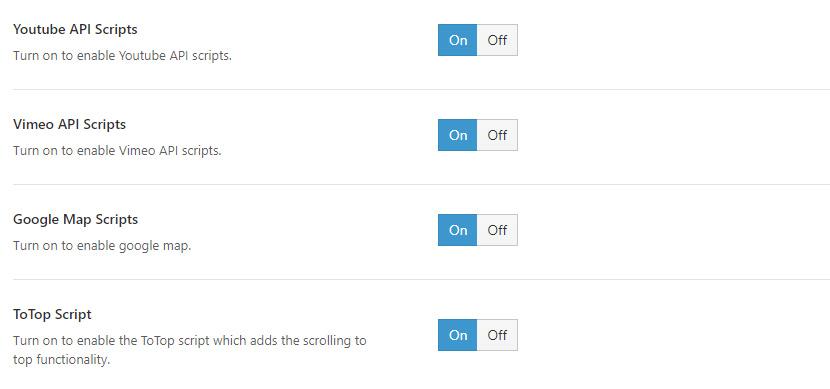 禁用无关的API Scripts脚本支持