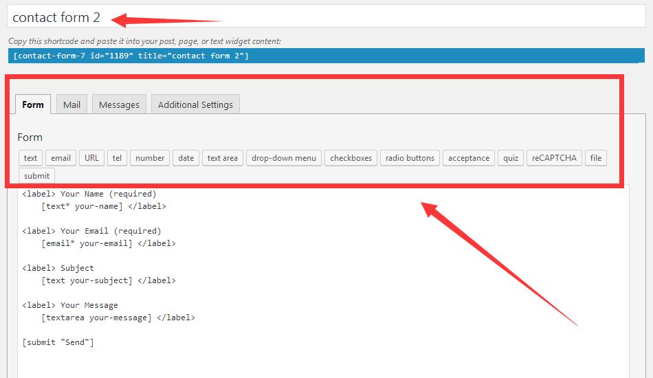 contact form 7 使用教程,最受欢迎的wordpress表单插件