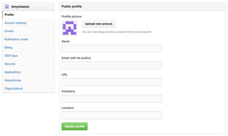 ``Profile''链接。